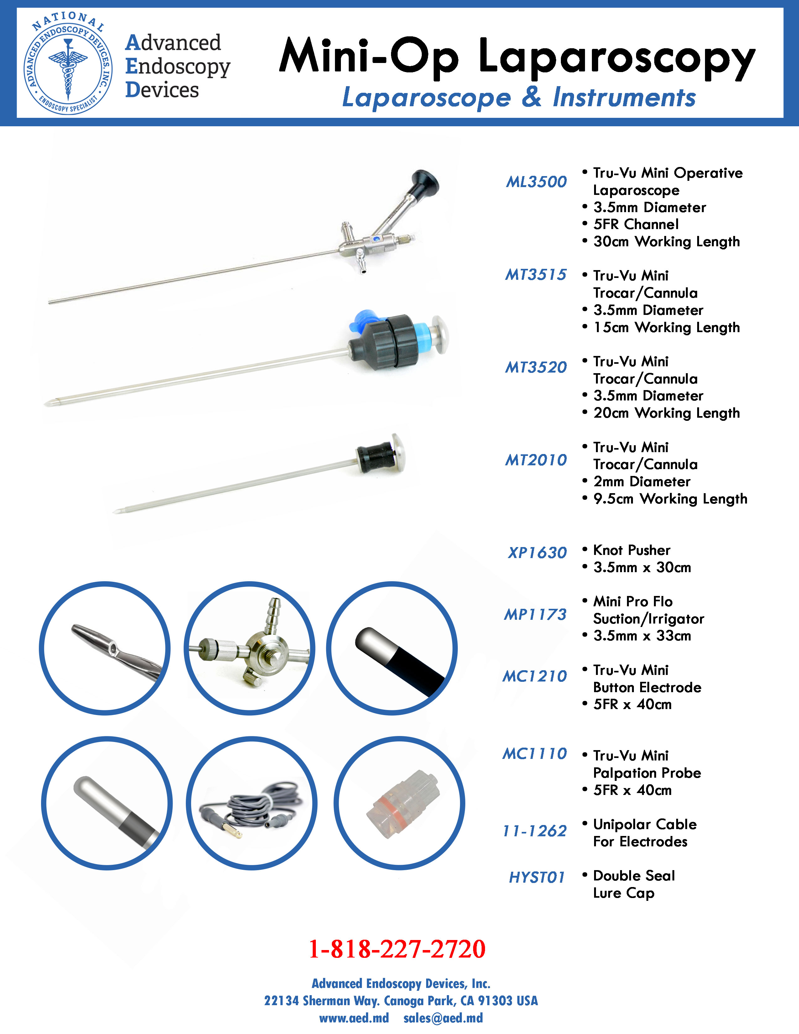Mini-Op Laparoscopy Scopes and Instruments Product Page