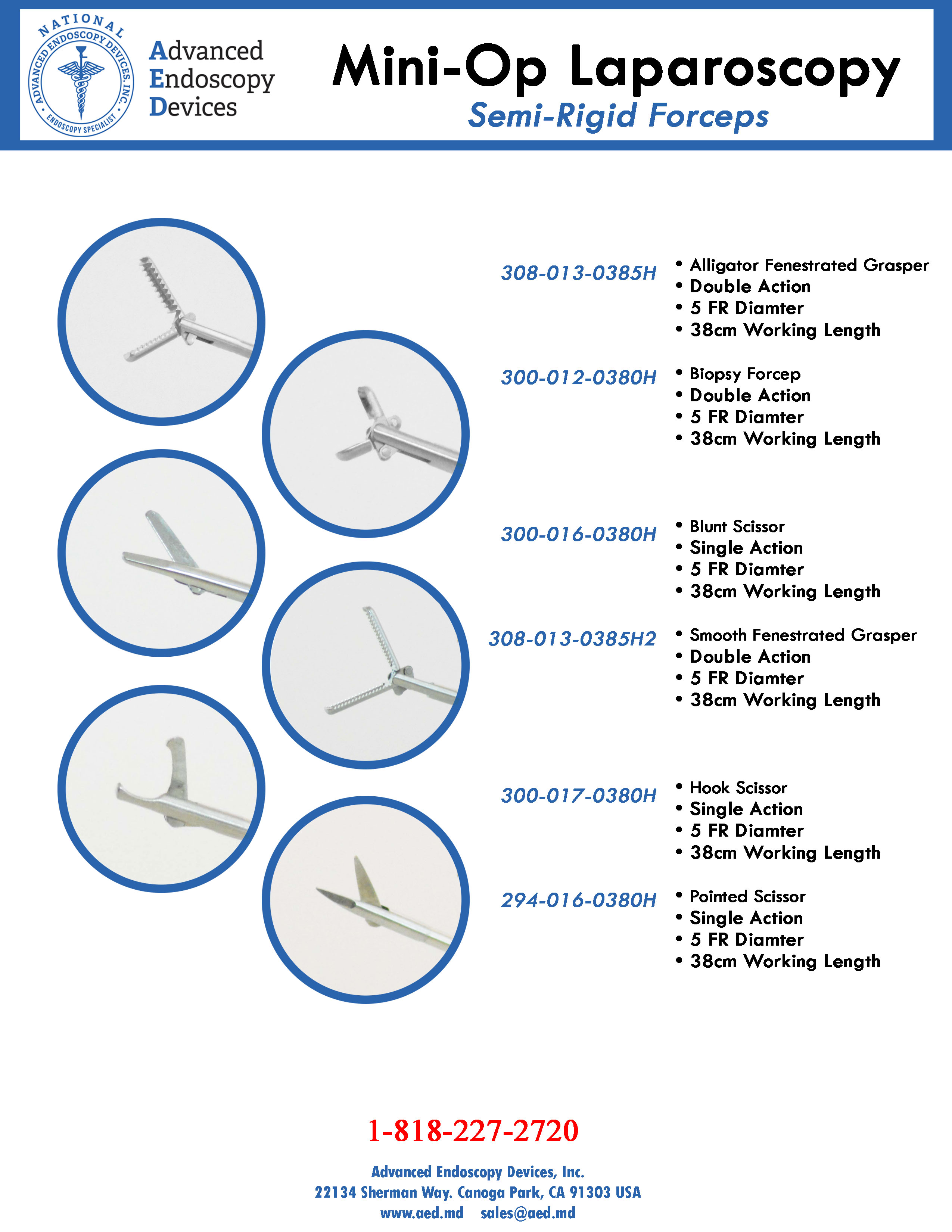 Mini Op-Laparoscopy Semi-Rigid Forceps Product Page