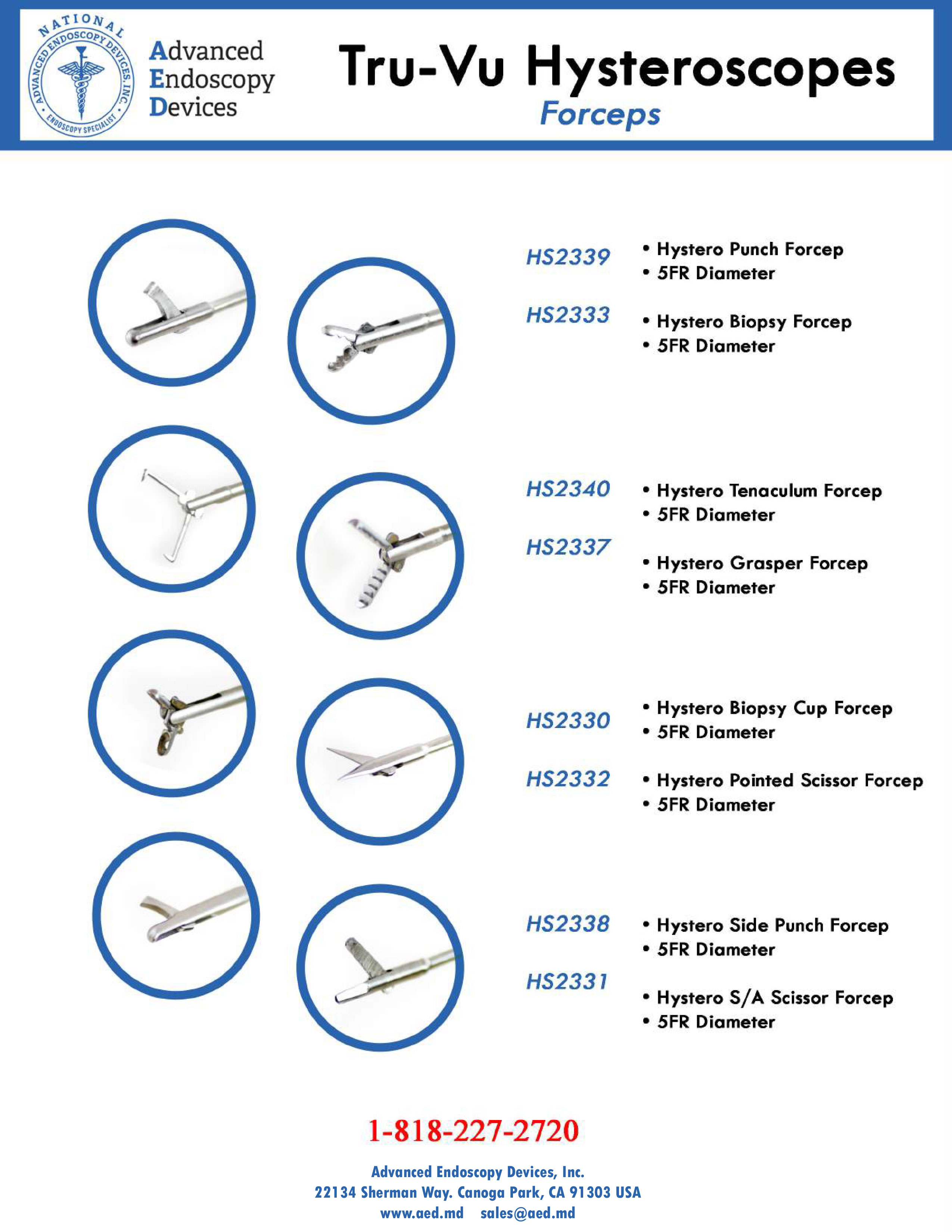 Tru-Vu Hysteroscopes Forceps Product Page