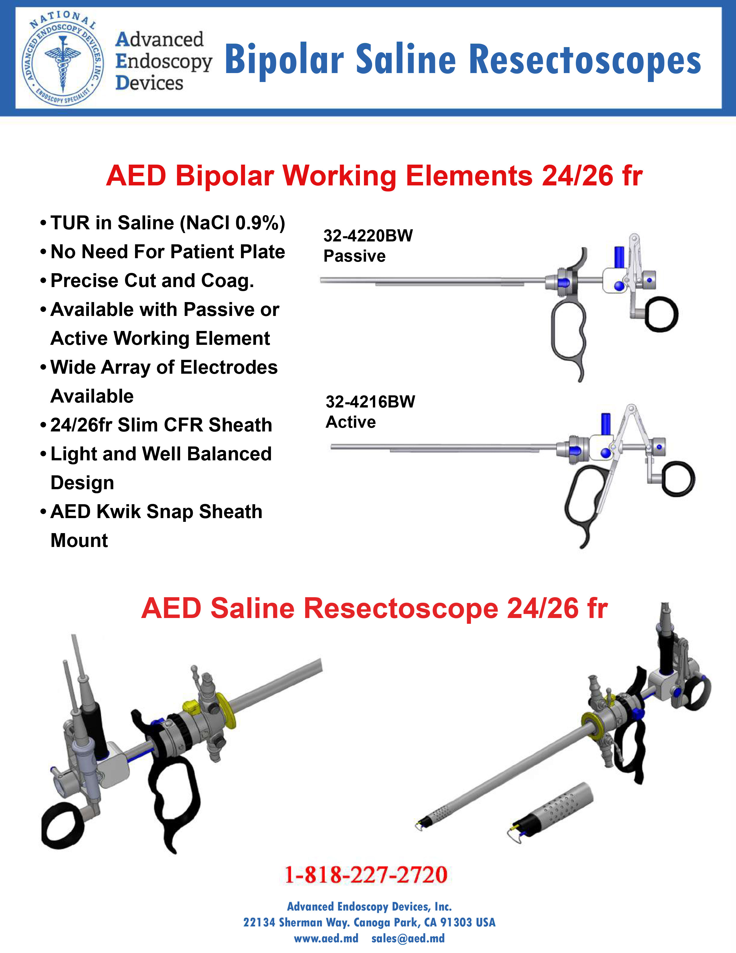 Bipolar Saline Resectoscopes Product Page