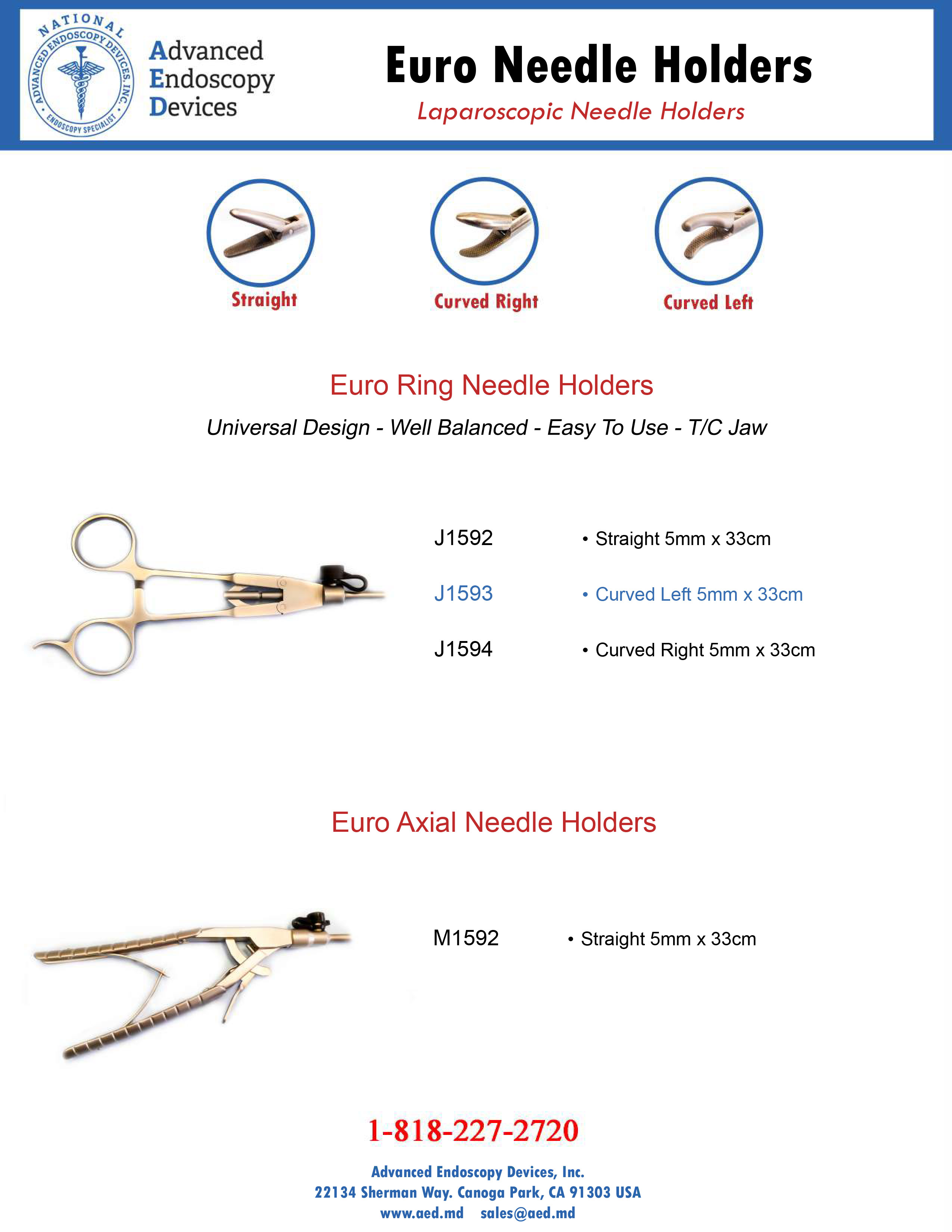 Euro Needle Holders Product Page