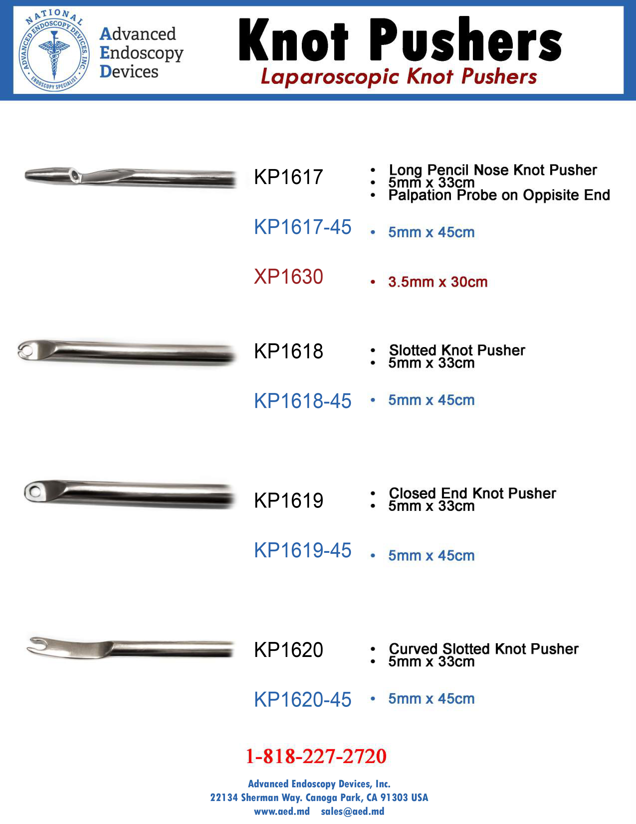 Laparoscopic Knot Pusher Product Page