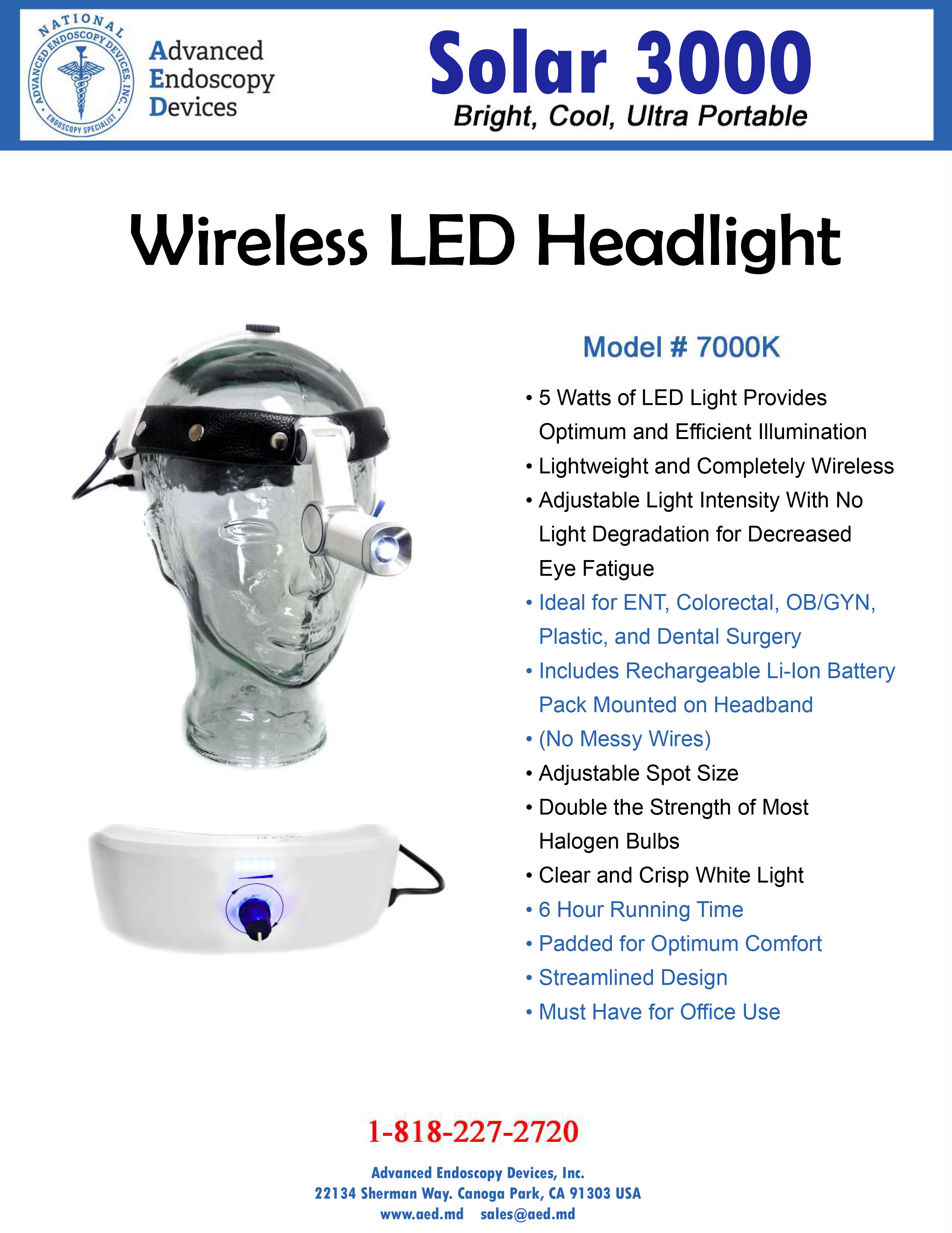 Solar 3000 Wireless LED Headlight Product Page