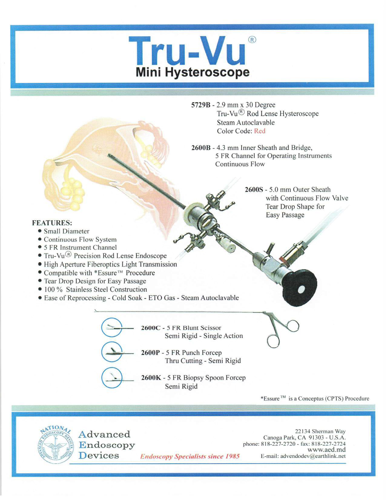 Tru-Vu Mini Hysteroscope Product Page