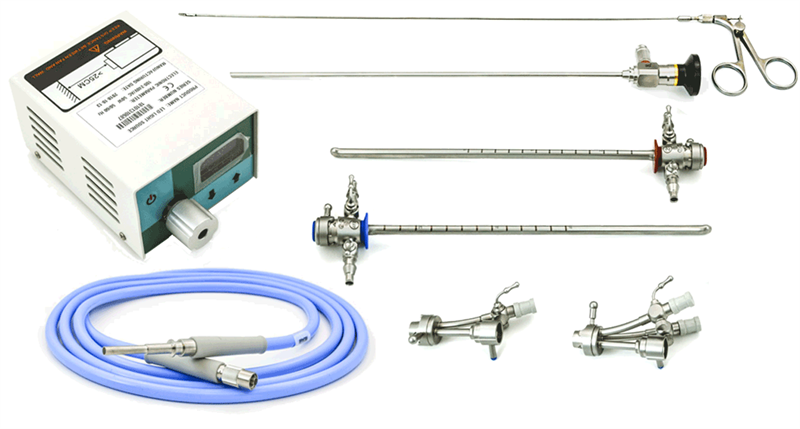 AED 43200 Office Cystoscopy Set With 4mm x 30 Deg Scope 21FR - 19.5FR Sheath