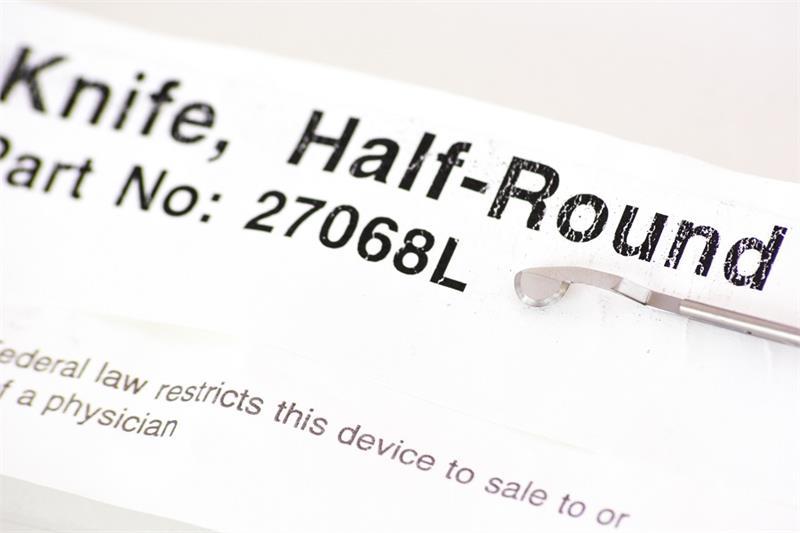 Storz 27068L Cold Knife, Half Round