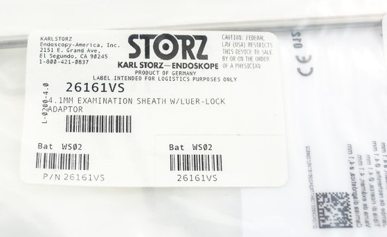 Karl Storz 26161VS Hystero Exam Sheath 4.1mm - For use with 2.9mm Scope