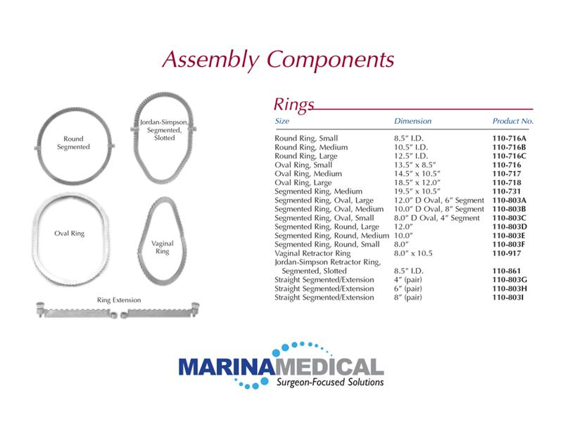 Marina Medical Multiple Retractor Rings, Multi-Trac