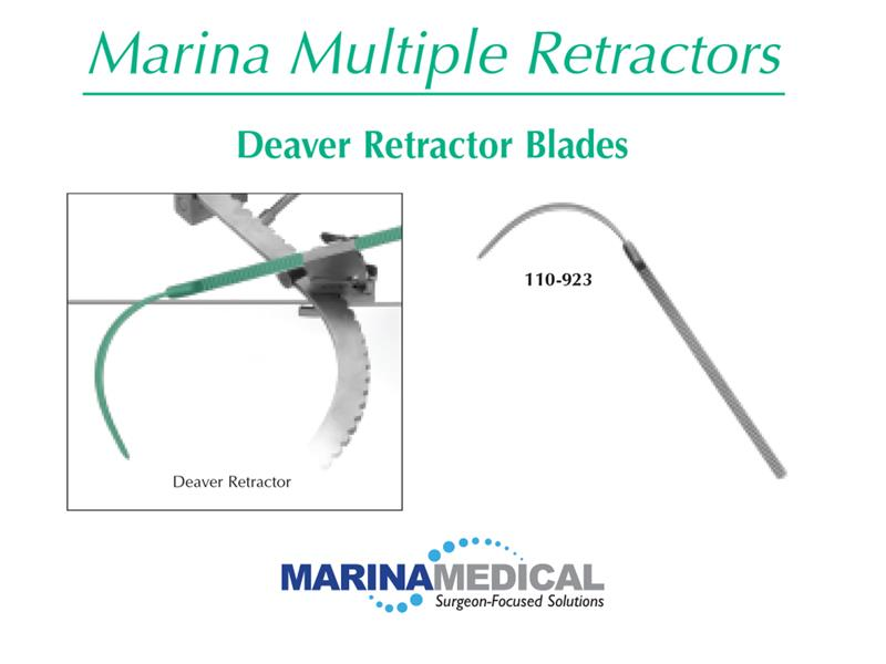 Marina Medical Multi-Trac Deaver Retractor Blades