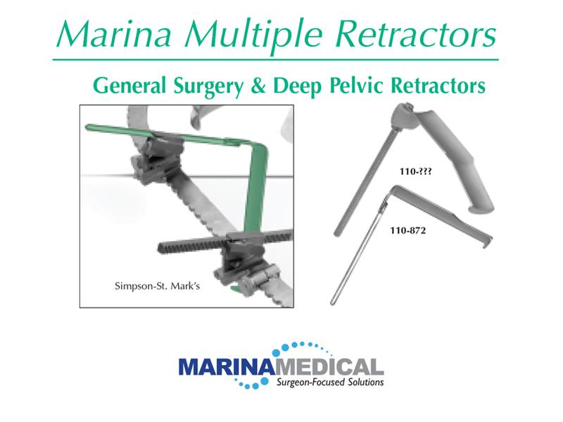 Marina Medical Multi-Trac General Surgery and Deep Pelvic Retractors