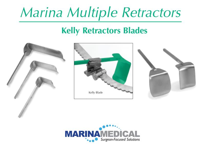 Marina Medical Multi-Trac Kelly Retractor Blades