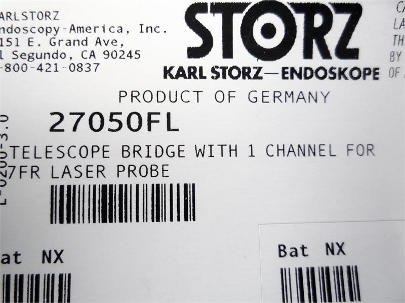 Storz 27050FL Telescope Bridge w/ 1 Channel