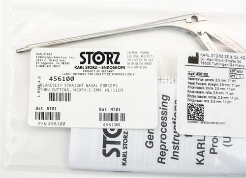 Karl Storz 4556100 Blakesley Straight Thru Cut Forcep 2.5mm with WL-11cm