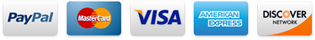 We Accept: PayPal, MC, VISA, AmEx, DISCOVER